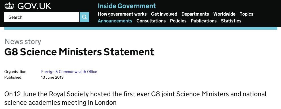 G8ScienceMinistersStatement