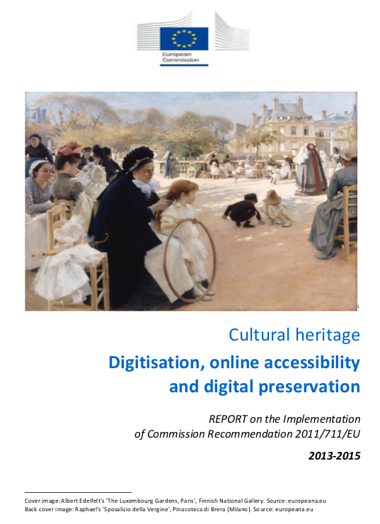 Cultural heritage digitisation online accessibility and digital preservation