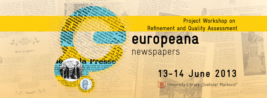 UnivSMBeogradEuropeanaNewspapers