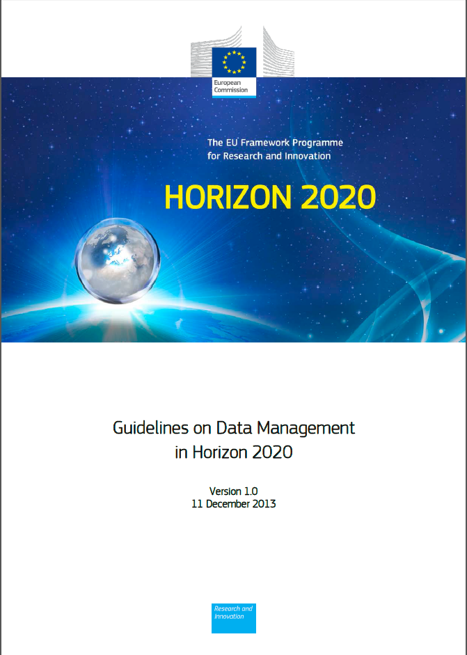 GuidelinesOnDataManagementInHorizon2020Ver1Cover