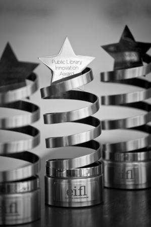 eifl-plip innovation award trophies 2